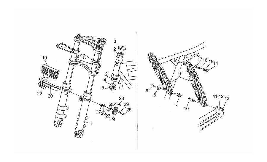 Suspension delantera/trasera