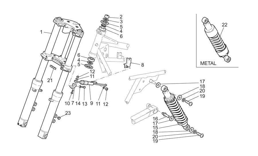 Horquilla-suspension tr.