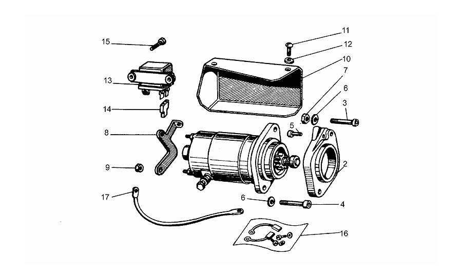 Motor arranque bendix