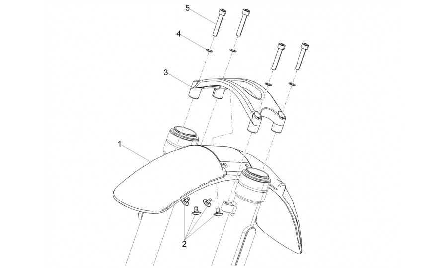 guardabarros delantero-puntal