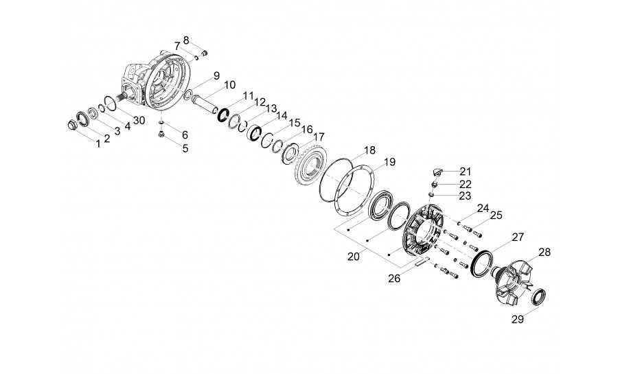 La transmisión trasera / componentes